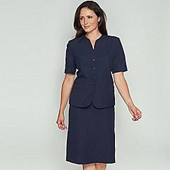 David Barry - Navy pencil skirt suit