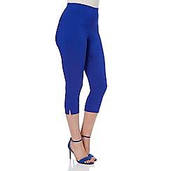 Roman Originals - Bright blue bengaline cropped trouser