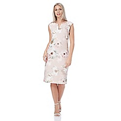 Roman Originals - Pink floral all over print scuba dress