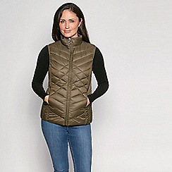 David Barry - Olive zip up quilted gilet