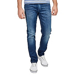 Mish Mash - Blue slim tapered stretch mid wash denim jeans
