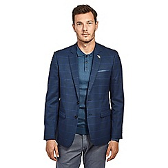 Mish Mash - Navy textured check single breasted blazer
