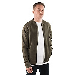 Steel & Jelly - Light olive jersey bomber jacket