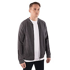 Steel & Jelly - Dark grey jersey bomber jacket