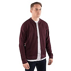 Steel & Jelly - Maroon jersey bomber jacket