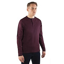 Steel & Jelly - Maroon cotton long sleeve 'Henley' jumper