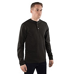Steel & Jelly - Dark grey textured striped cotton long sleeve shirt