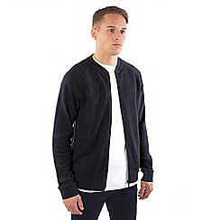 Steel & Jelly - Navy jersey bomber jacket