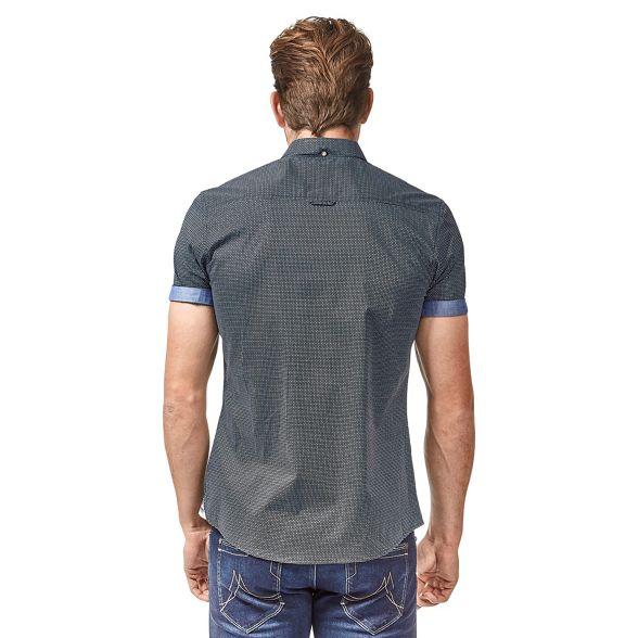 print Mish Navy short Mash sleeve mini shirt geo cotton wPvS4Xxq