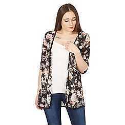 Izabel London - Multicoloured floral print shier cardigan