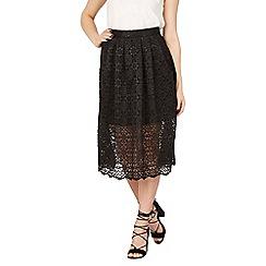 Izabel London - Black crochet overlay skirt