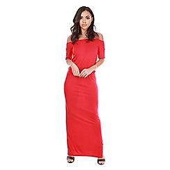 Be Jealous - Red off shoulder bardot maxi dress