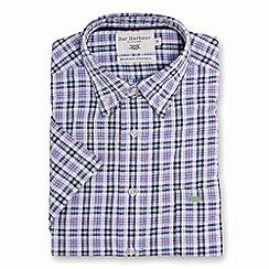 Bar Harbour - Beige multi check short sleeve casual shirt
