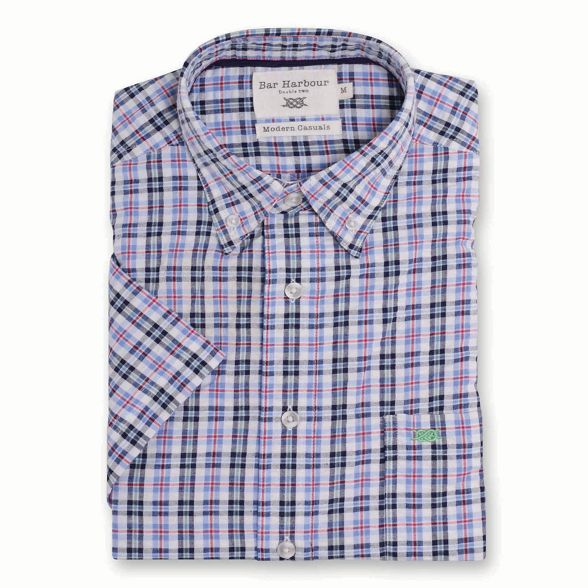 short Bar Beige Harbour shirt casual multi check sleeve qIfaHI1w