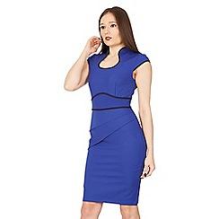 Jolie Moi - Royal contrast fold detail bodycon dress