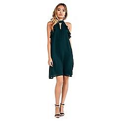 Amalie & Amber - Green halterneck dress