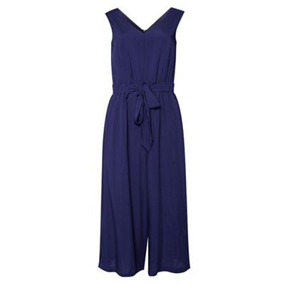 Amalie & Amber   Navy Tie Front Jumpsuit by Amalie & Amber