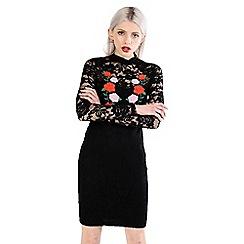 Amalie & Amber - Black lace dress