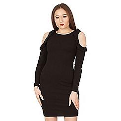 Amalie & Amber - Black cold shoulder dress