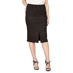 Izabel London - Black suedette pencil skirt
