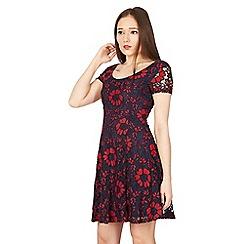 Izabel London - Multicoloured overlace skater dress