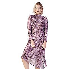 Amalie & Amber - Mauve floral midi dress
