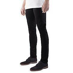 Steel & Jelly - Black vintage look slim fit cotton stretch chinos