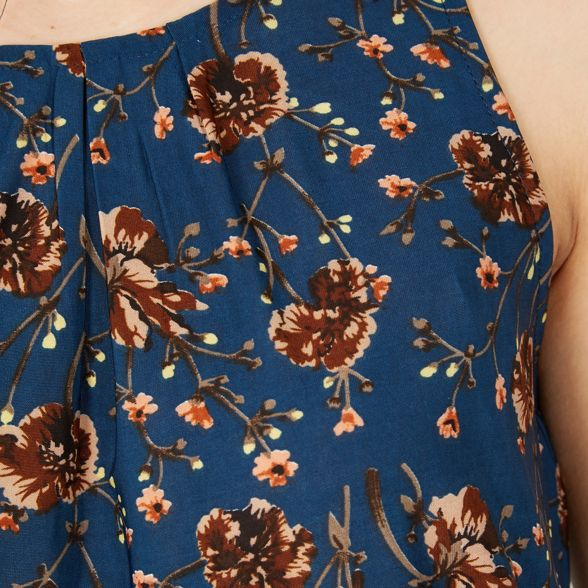 Blue sleeveless Izabel London Blue London top Izabel x0qzfwa