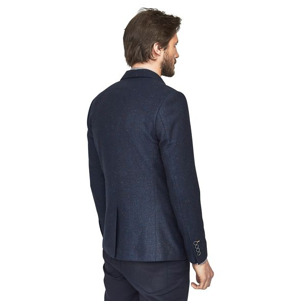 wool breasted Blue blazer Mish Mash mix single aqvTZz0x