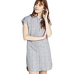 Apricot - Blue checked woven shirt dress