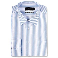Double Two - Blue stripes formal shirt