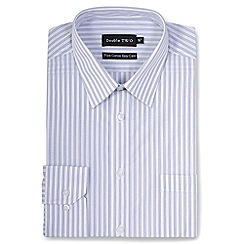 Double Two - Silver stripe formal shirt