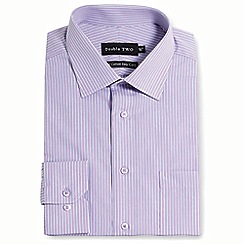 Double Two - Lilac stripe formal shirt