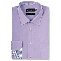 Double Two - Purple thin stripe formal shirt