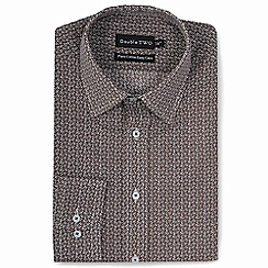 Double Two - Brown patterned formal shirt