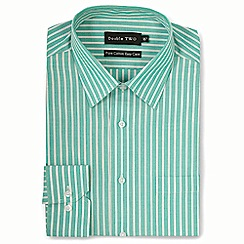 Double Two - Green stripe formal shirt