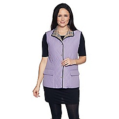 David Barry - Lilac check lined gilet