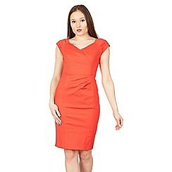 Jolie Moi - Red fold detail bodycon dress