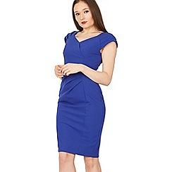 Jolie Moi - Blue fold detail bodycon dress