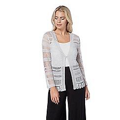 Roman Originals - Silver crochet shrug