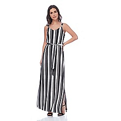 Roman Originals - White monochrome stripe maxi dress