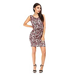 Be Jealous - Wine bow knot mini bodycon dress