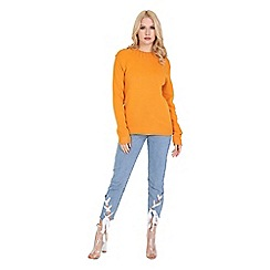 Be Jealous - Mustard round neck long sleeve top