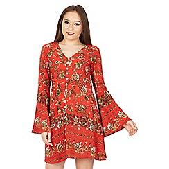 Izabel London - Red button front mini dress