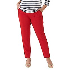 Lavitta - Red crepe tapered trousers