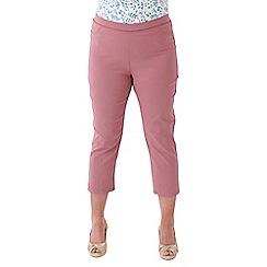 Lavitta - Pink bengaline crop trousers