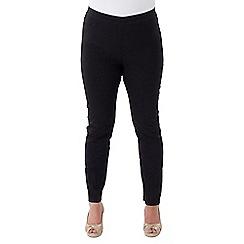 Lavitta - Black bengaline crop trousers
