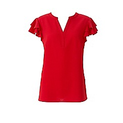 Lavitta - Red frill sleeves blouse