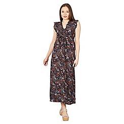Izabel London - Multicoloured floral print frilled midi dress