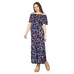 Izabel London - Multicoloured floral print frill maxi dress